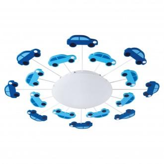 EGLO 92146 | Viki-1 Eglo stenové, stropné svietidlo 1x E27 modrá, biela
