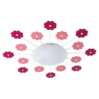 EGLO 92147 | Viki-1 Eglo stenové, stropné svietidlo 1x E27 ružové, biela