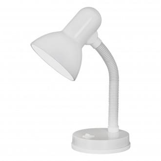 EGLO 9229 | Basic Eglo stolové svietidlo 30cm prepínač flexibilné 1x E27 biela