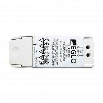 EGLO 92348 | Eglo LED napájací zdroj 11,5V 0-40W 6A obdĺžnik regulovateľný biela