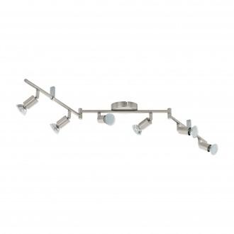 EGLO 92599 | Buzz_LED Eglo stenové, stropné svietidlo otočné prvky 6x GU10 1440lm 3000K matný nikel