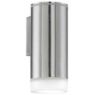 EGLO 92735 | RigaLED Eglo stenové svietidlo 1x GU10 200lm 4000K IP44 zušľachtená oceľ, nehrdzavejúca oceľ