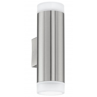 EGLO 92736 | RigaLED Eglo stenové svietidlo 2x GU10 400lm 4000K IP44 zušľachtená oceľ, nehrdzavejúca oceľ