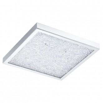 EGLO 92781 | Cardito Eglo stropné svietidlo diaľkový ovládač meniace farbu 1x LED 1550lm + 4x LED 3000K chróm, priesvitné