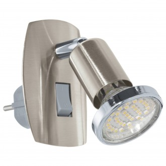 EGLO 92924 | Mini-4 Eglo konektorové svietidlo svietidlo prepínač 1x GU10 240lm 3000K matný nikel, chróm