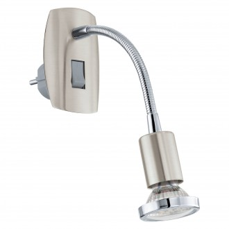 EGLO 92933 | Mini-4 Eglo konektorové svietidlo svietidlo prepínač 1x GU10 240lm 3000K matný nikel, chróm