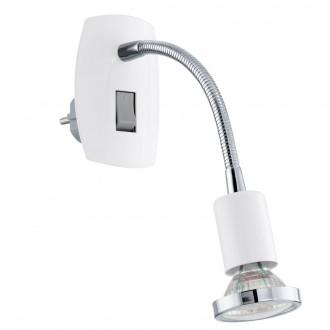 EGLO 92934 | Mini-4 Eglo konektorové svietidlo svietidlo prepínač 1x GU10 240lm 3000K biela, chróm