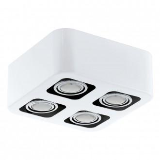 EGLO 93013 | Toreno Eglo stropné svietidlo otáčateľný svetelný zdroj 4x GU10 1600lm 3000K biela, chróm