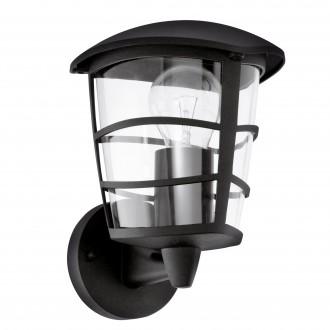 EGLO 93097   Aloria Eglo rameno stenové svietidlo 1x E27 IP44 čierna, priesvitná