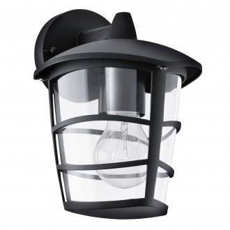 EGLO 93098   Aloria Eglo rameno stenové svietidlo 1x E27 IP44 čierna, priesvitná