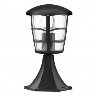 EGLO 93099 | Aloria Eglo stojaté svietidlo 30cm 1x E27 IP44 čierna, priesvitná