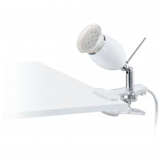 EGLO 93118 | Banny-1 Eglo štipcové svietidlo prepínač na vedení 1x GU10 240lm 3000K strieborný, chróm, biela