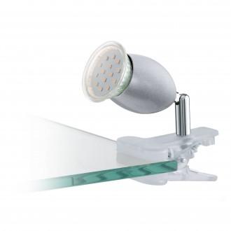 EGLO 93119 | Banny-1 Eglo štipcové svietidlo prepínač na vedení 1x GU10 240lm 3000K strieborný, chróm, biela