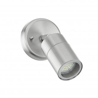 EGLO 93268 | Stockholm_LED Eglo stenové svietidlo otočné prvky 1x GU10 400lm 3000K IP44 zušľachtená oceľ, nehrdzavejúca oceľ, priesvitné