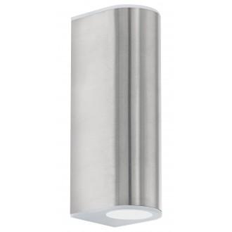 EGLO 93271 | Cabos Eglo stenové svietidlo 2x LED 360lm 3000K IP44 zušľachtená oceľ, nehrdzavejúca oceľ