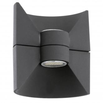 EGLO 93368 | Redondo Eglo stenové svietidlo 2x LED 360lm 3000K IP44 antracit