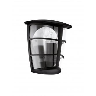 EGLO 93407   Aloria Eglo stenové svietidlo 1x E27 IP44 čierna, priesvitná