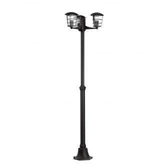 EGLO 93409   Aloria Eglo stojaté svietidlo 180cm 3x E27 IP44 čierna, priesvitná