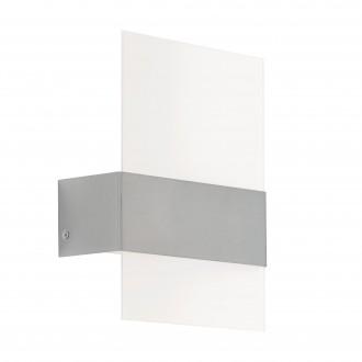 EGLO 93438 | Nadela Eglo stenové svietidlo 2x LED 360lm 3000K IP44 zušľachtená oceľ, nehrdzavejúca oceľ, biela