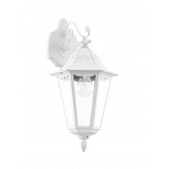 EGLO 93445 | Navedo Eglo rameno stenové svietidlo 1x E27 IP44 biela, priesvitná