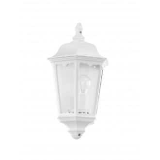 EGLO 93448 | Navedo Eglo stenové svietidlo 1x E27 IP44 biela, priesvitná