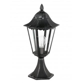 EGLO 93462 | Navedo Eglo stojaté svietidlo 47cm 1x E27 IP44 čierna, starožitná strieborná, priesvitná