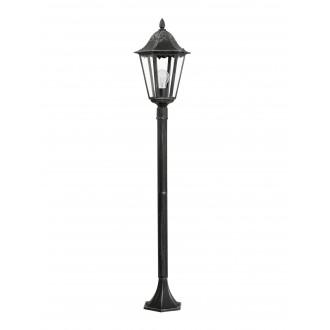 EGLO 93463 | Navedo Eglo stojaté svietidlo 120cm 1x E27 IP44 čierna, starožitná strieborná, priesvitná