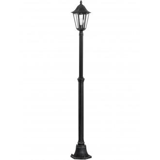 EGLO 93464 | Navedo Eglo stojaté svietidlo 200cm 1x E27 IP44 čierna, starožitná strieborná, priesvitná