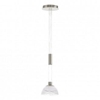 EGLO 93466 | Montefio Eglo visiace svietidlo protiváhové, nastaviteľná výška 1x LED 460lm 3000K matný nikel, biela