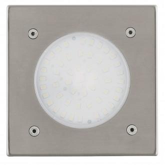 EGLO 93481 | Lamedo Eglo zabudovateľné svietidlo 102x102mm 1x LED 180lm 3000K IP67/65 IK09 zušľachtená oceľ, nehrdzavejúca oceľ, biela
