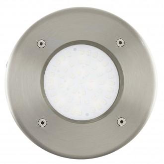 EGLO 93482 | Lamedo Eglo zabudovateľné svietidlo Ø102mm 1x LED 180lm 3000K IP67/65 IK09 zušľachtená oceľ, nehrdzavejúca oceľ, biela