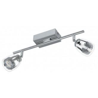 EGLO 93742 | Pecero Eglo stenové, stropné svietidlo otočné prvky 2x LED 920lm 3000K chróm, priesvitné