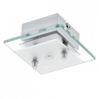 EGLO 93884   Fres_LED Eglo stenové, stropné svietidlo 1x LED 510lm 3000K chróm, biela, priesvitné