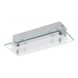 EGLO 93885   Fres_LED Eglo stenové, stropné svietidlo 2x LED 1020lm 3000K chróm, biela, priesvitné
