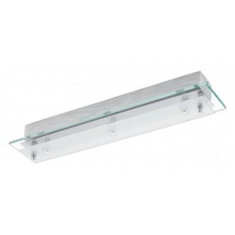 EGLO 93886 | Fres_LED Eglo stenové, stropné svietidlo 3x LED 1530lm 3000K chróm, biela, priesvitné