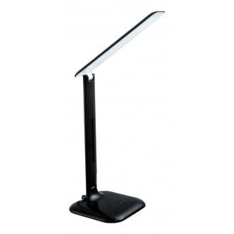EGLO 93966 | Caupo Eglo stolové svietidlo 55cm dotykový prepínač s reguláciou svetla nastaviteľná farebná teplota, otočné prvky 1x LED 280lm 2700 <-> 5000K čierna, biela
