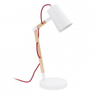 EGLO 94033 | Torona Eglo stolové svietidlo 54cm prepínač na vedení otočné prvky 1x E27 natur, biela, červená