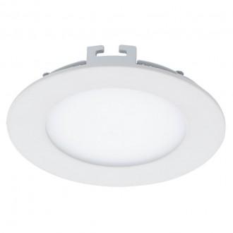 EGLO 94048 | Fueva_1 Eglo zabudovateľné LED panel kruhový regulovateľná intenzita svetla Ø120mm 1x LED 600lm 3000K biela