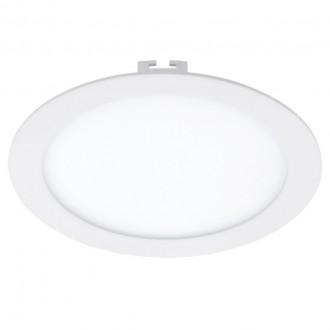 EGLO 94064 | Fueva_1 Eglo zabudovateľné LED panel kruhový regulovateľná intenzita svetla Ø225mm 1x LED 1600lm 3000K biela