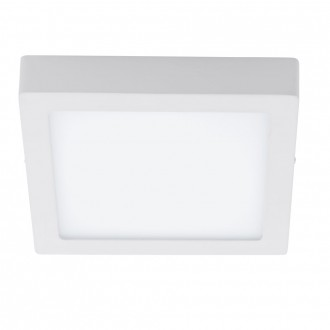 EGLO 94077 | Fueva_1 Eglo stenové, stropné LED panel štvorec 1x LED 1700lm 3000K biela