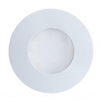 EGLO 94093 | Margo Eglo zabudovateľné svietidlo Ø84mm 1x GU10 400lm 3000K IP65 biela, opál