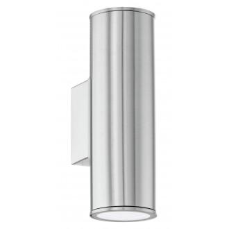 EGLO 94107 | RigaLED2 Eglo stenové svietidlo 2x GU10 480lm 3000K IP44 zušľachtená oceľ, nehrdzavejúca oceľ