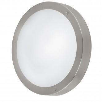 EGLO 94121 | Vento-LED Eglo stenové, stropné svietidlo kruhový 1x LED 950lm 3000K IP44 zušľachtená oceľ, nehrdzavejúca oceľ, biela