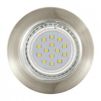 EGLO 94238 | Peneto Eglo zabudovateľné svietidlo kruhový 3 dielna súprava Ø78mm 3x GU10 600lm 3000K bronzová