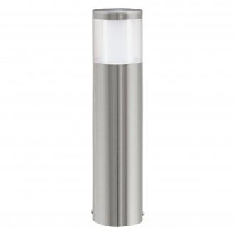 EGLO 94278 | Basalgo-1 Eglo stojaté svietidlo 45cm 1x LED 320lm 3000K IP44 zušľachtená oceľ, nehrdzavejúca oceľ, priesvitná, biela