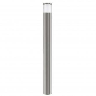 EGLO 94279 | Basalgo-1 Eglo stojaté svietidlo 105cm 1x LED 320lm 3000K IP44 zušľachtená oceľ, nehrdzavejúca oceľ, priesvitná, biela