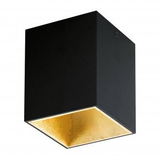 EGLO 94497 | Polasso Eglo stropné svietidlo kocka 1x LED 340lm 3000K čierna, zlatý