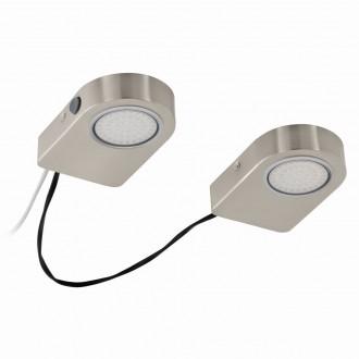 EGLO 94514 | Lavaio Eglo osvetlenie pultu svietidlo prepínač vybavené vedením a zástrčkou 2x LED 560lm 3000K matný nikel