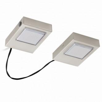 EGLO 94516 | Lavaio Eglo osvetlenie pultu svietidlo prepínač vybavené vedením a zástrčkou 2x LED 560lm 3000K matný nikel