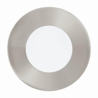EGLO 94518 | Fueva_1 Eglo zabudovateľné LED panel kruhový Ø85mm 1x LED 300lm 3000K matný nikel, biela
